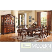 AC62310 Nathaneal Dining Table in Tobacco Cherry w/Options