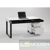 Reversible Case 3 Drawer Modern Computer Desk Top