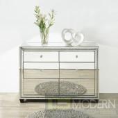 PRESTIGE Crystal 6 Drawers Cabinet, Clear Mirror