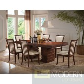 70020 Pacifica Dining Table in Cherry by Acme w/Optional Chairs