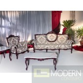 701 Ice Lame Traditional Fabric Sofa Set