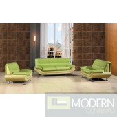 7045 - Modern Bonded Leather Sofa Set