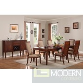 AC70620 Shelton Dining Table in Walnut Fininsh  w/Options