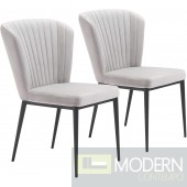 Tolivere Dining Chair, Grey (Set of 2) by ZUO  LOCAL DMV DEALS