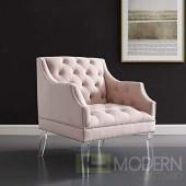 Paola Tufted Button Accent Performance Velvet Armchair