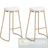 Bree Counter Stool White & Gold  (Set of 2)  LOCAL DMV DEALS