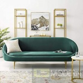 Candace Vertical Curve Back Velvet Sofa
