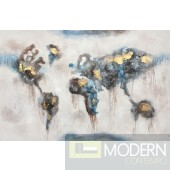 "59"" World Abstract Oil Painting Art"
