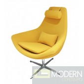 Iva Yellow Eco-Leather Accent Chair