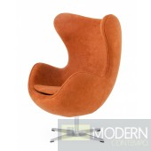Jacobsen- Modern Rust Fabric Accent Chair