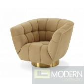 Cleopatra Glam Mustard and Gold Fabric Chair