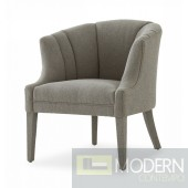 Bentley Glam Grey Fabric Accent Chair