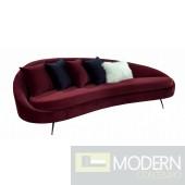 Giselle - Glam Burgundy Velvet Sofa