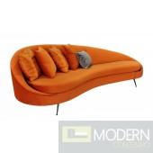 Giselle - Glam Pumpkin Velvet Sofa