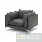Norway Modern Grey Full Leather chair