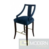 Ella Glam Blue Velvet Bar Stool