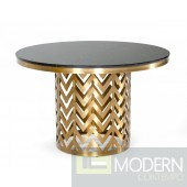 Allure Glam Black Marble Dining Table