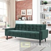 Dolce Vita Tufted Velvet Sofa Emerald Green