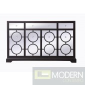 Burch mirrored six drawer credenza in Black 60""