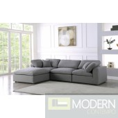 Marie-Jacques Cloud Modular Down Filled Overstuffed Reversible Sectional - 4PC
