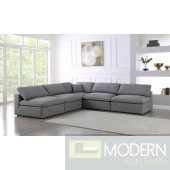Marie-Jacques Cloud Modular Down Filled Overstuffed Corner Sectional - 5PC - Armless