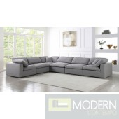 Marie-Jacques Cloud Modular Down Filled Overstuffed Corner Sectional - 5PC - Arms
