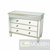 Metz IV-C Mirrored 3 Drawer Crystal Trimmed Cabinet