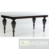 Bugatti Black Lacquer Dining Table FLOOR MODEL