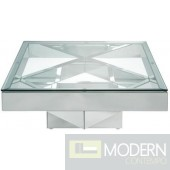 Venice Coffee Table, Mirrored and Clear Glass