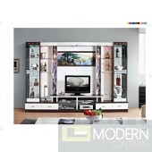 Contemporary Modern wall unit entertainment center MCSS8034