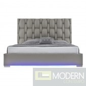 Livia Platform Bed with LED GRAY