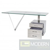 Maxwell High Polished Stainless Steel Office Desk