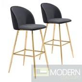Zuo Modern Cozy Bar Chair in Black Fabric & Steel LOCAL DMV DEALS
