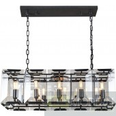 "34"" Iceberg Collection Pendant Lamp Black (Matte) Finish"