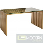 Gainesville Stainless Steel Dining Table GOLD