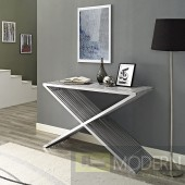 Benoite Console Table in Silver