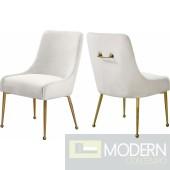 Cream Elegante Velvet Dining chair - Set of 2 INSTORE item DMV deals