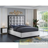 IN VOGUE  WHITE VELVET BED