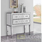 Coraline Antique Silver Paint 34-Inch Nightstand