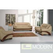 870 - Leather Sofa Set