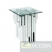 Manhattan Glam Mirrored End Table