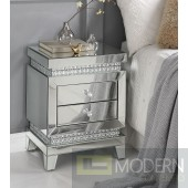 Primrose Accent Side Table in Mirror & Faux Crystals