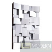 Cornelia Modern 47 in. Contemporary Mirror in Clear