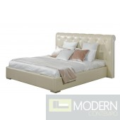 Modrest Tufted Leather Art Deco Style Bed
