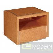 Modrest Deco Style Coffee Gloss Color Nightstand