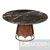 Art Deco Marble Round Dining Table