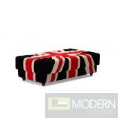 Union Jack Ottoman Red, White & Black