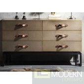 Yves Gold Aluminum Console