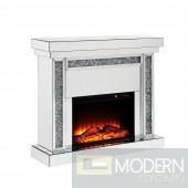 Essence Fireplace - Mirrored & Faux Diamonds