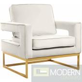 Athena Cream Velvet Accent chair gold INSTORE ITEM LOCAL DMV DEALS